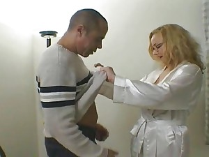 Rebecca Bardoux golden-haired older anal assfuck troia takes difficult jock in the wazoo total the line love bubbles