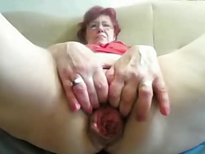 55yr preceding Granny Copulates Fist Prolapse her Slit and Wazoo on Web camera
