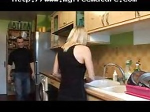 French Mama In The Cook-room older aged porn granny previous cumshots spunk flow