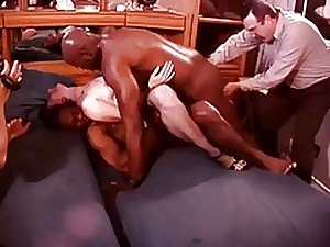 White Hotwife in a Room Stout of Darksome Bulls