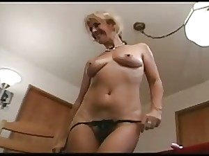 Blond older can't live without toys, anal & swallow-fdcrn