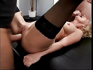 Golden-haired GERMAN Older Girl Group-fucked